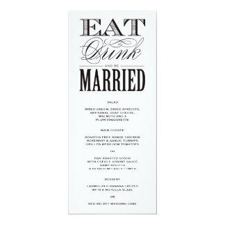 Be Married   Menu 4x9.25 Paper Invitation Card