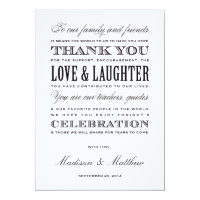 Be Married | Reception Thank You Cards