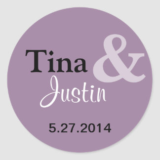 Be Married Round Sticker - Lilac