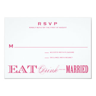 & BE MARRIED | RSVP 3.5 x 5 Card