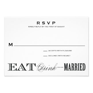 BE MARRIED RSVP 3 5 x 5 Announcements