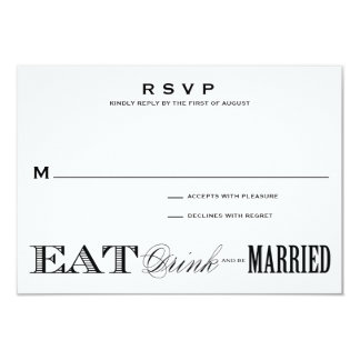 & BE MARRIED   RSVP 3.5 x 5 Custom Announcement