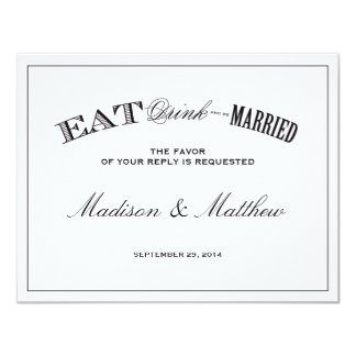 Be Married | RSVP Postcard