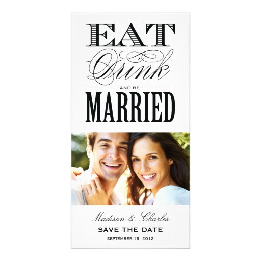 & BE MARRIED   SAVE THE DATE ANNOUNCEMENT PERSONALIZED PHOTO CARD
