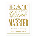 BE MARRIED   SAVE THE DATE ANNOUNCEMENT POSTCARD