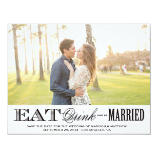 Be Married | Save the Date Photo Postcard 4.25x5.5 Paper Invitation Card