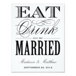 Be Married | Save the Date Postcard Custom Invites