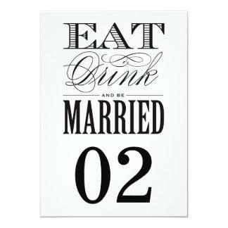 Be Married | Table Numbers Custom Invite