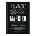 "& BE MARRIED | WEDDING INVITATION 5"" X 7"" INVITATION CARD"