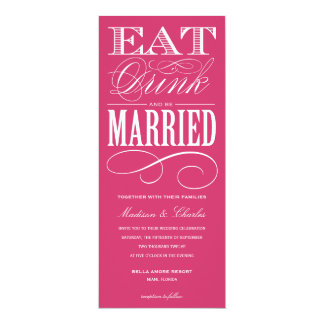 "& BE MARRIED | WEDDING INVITATION STYLE 2 4"" X 9.25"" INVITATION CARD"