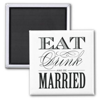 & BE MARRIED   WEDDING MAGNET