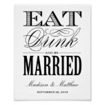 Be Married | Wedding Reception Sign Posters