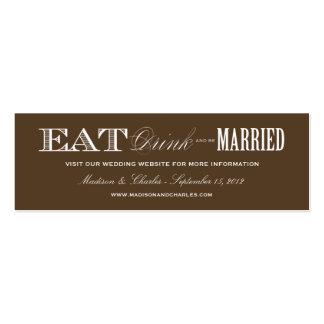 & BE MARRIED | WEDDING WEBSITE CARDS