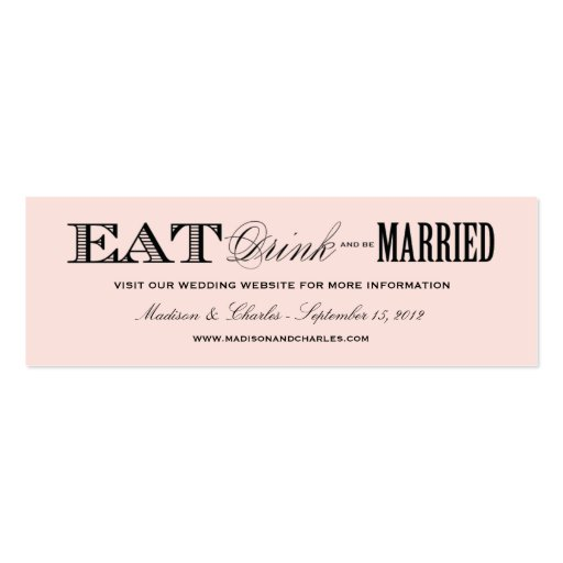 & BE MARRIED   WEDDING WEBSITE CARDS BUSINESS CARD