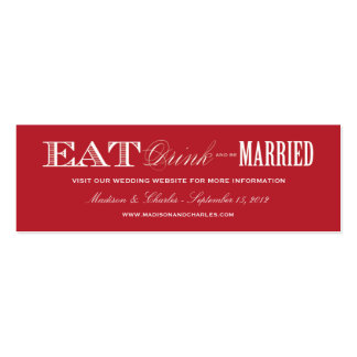 & BE MARRIED | WEDDING WEBSITE CARDS Double-Sided MINI BUSINESS CARDS (Pack OF 20)