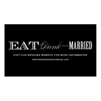 & BE MARRIED | WEDDING WEBSITE CARDS Double-Sided STANDARD BUSINESS CARDS (Pack OF 100)