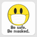 Be Masked Emoji Square Sticker