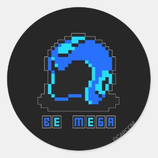 Be Mega Classic Round Sticker
