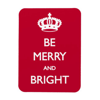 Be Merry and Bright Christmas Rectangular Photo Magnet