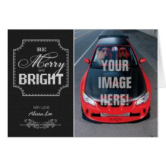 Be Merry and Bright - Subaru STI Car themed Card