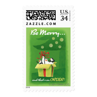 Be Merry and That's an Order Postage Stamp