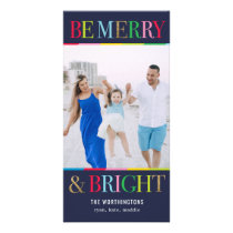 Be Merry Be Bright Editable Color Holiday Card