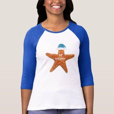 Beach Themed Be Merry Beach Christmas Women's T-Shirt