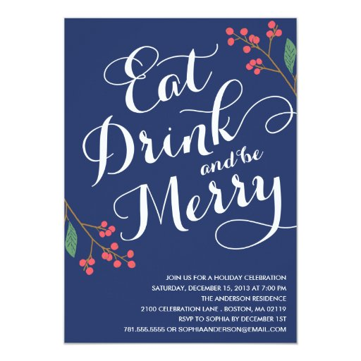 BE MERRY BERRIES | HOLIDAY PARTY INVITATION