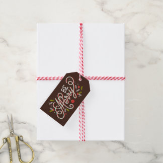 Be Merry Christmas Holiday Gift Tags