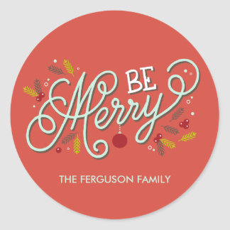 Be Merry Christmas Holiday Stickers