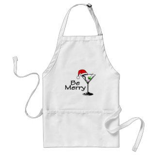 Be Merry Christmas Martini Adult Apron