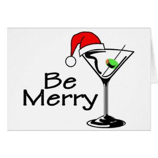 Be Merry Christmas Martini Greeting Card