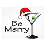 Be Merry Christmas Martini Invitations