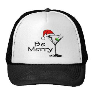 Be Merry Christmas Martini Trucker Hat