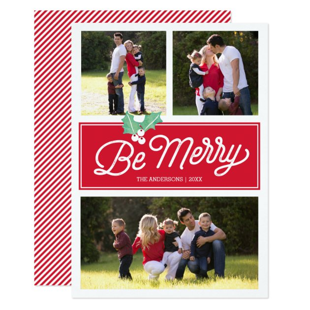 Be Merry Classic Multi-Photo | Holiday Photo Card