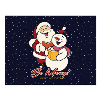 Be Merry! Happy Holidays Postcard