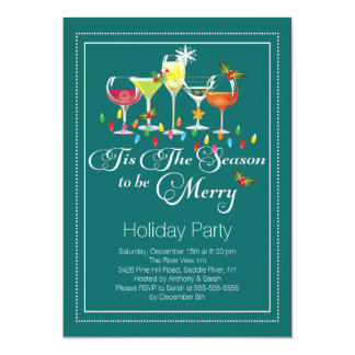 martini holiday party invitations  announcements  zazzle, Party invitations