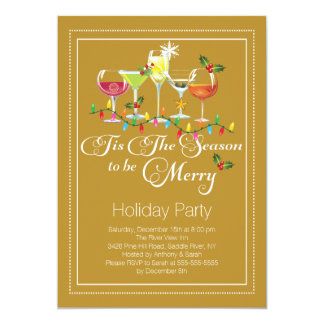 Be Merry Holiday Cocktail Party Invitation