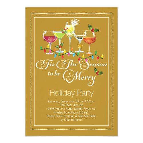 christmas drinks invite