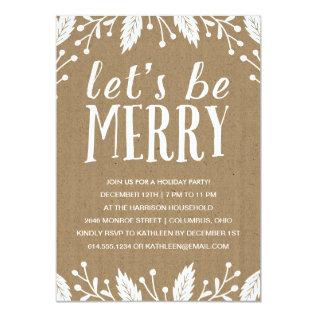 Be Merry | Holiday Party Invitation at Zazzle