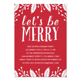Modern Holiday Party Invitations & Announcements | Zazzle