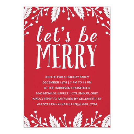 Christmas Party Invites: Holiday Party Invitation