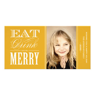 BE MERRY   HOLIDAY PHOTO CARD