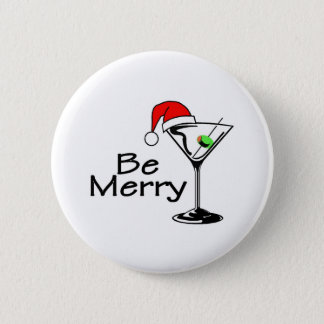 Be Merry Martini Button