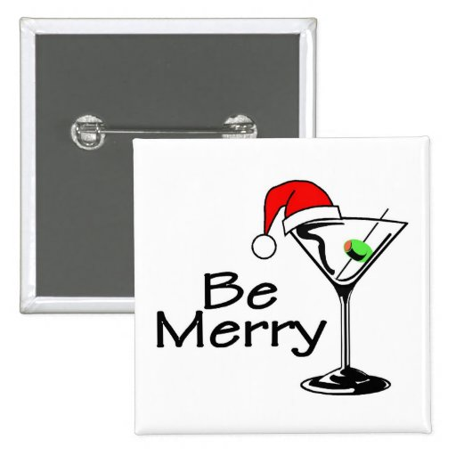 Be Merry Martini Buttons