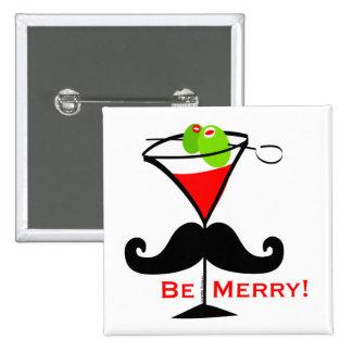 Be Merry Mustache Button