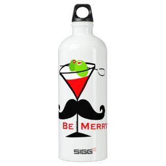 Be Merry Mustache Water Bottle