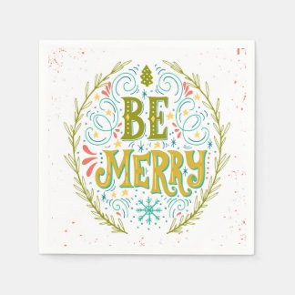 Be Merry Paper Napkin
