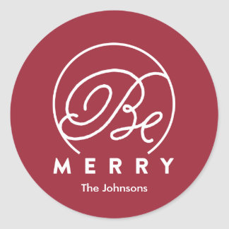 Be Merry Tag | Holiday Sticker