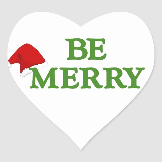 BE MERRY this holiday with these terrific gifts! Heart Sticker